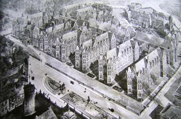 Architect's Impression of the Completed King Edward VII Extension, Leeds, 1917 (Edward VII Memorial Appeal leaflet, West Yorkshire Archives, Leeds 2295/299)