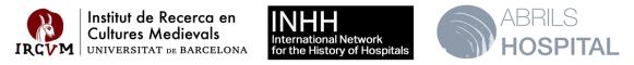 L'Institut de Recerca en Cultures Medievals logo INHH logo Abrils Hospital logo