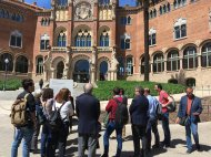 Group tour of the Hospital de Santa Creu
