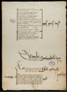 parchment Page from the 1550-51 accounts with caligraphy